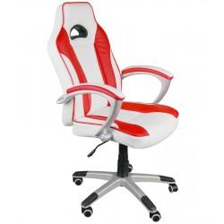 Bürosessel Chefsessel BSC Weiß-Rot