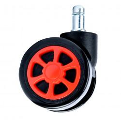 Gumové kolečka černé a červené sportovní