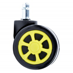 Gumové kolečka černá a žlutá sportovní