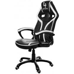 Fotel gamingowy GP Racer czarno-biały
