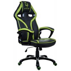 Fotel gamingowy GP Racer czarno-zielony