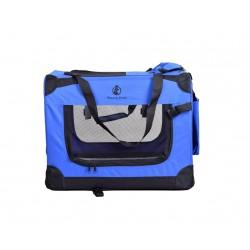 Faltbare Hundetransportbox Transportbox Katzen Hunde Auto Box Größe S Blau