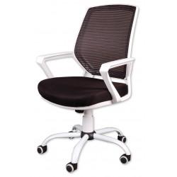Sessel Bürosessel Chefsessel Bürostuhl Drehstuhl Bürodrehstuhl Mesh-Membrane Schwarz/Weiß