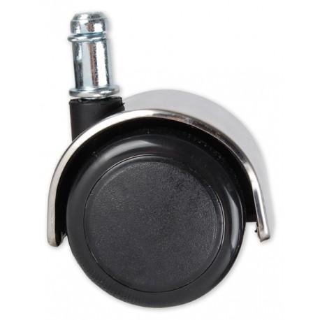 Kółka chromowane gumowe czarne (5 szt.)