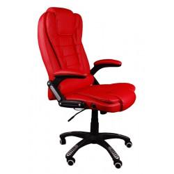 Massagesessel Drehstuhl Chefsessel Stuhl BRUNO Rot