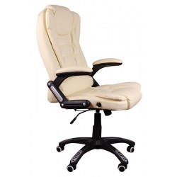 Massagesessel Drehstuhl Chefsessel Stuhl BRUNO Beige