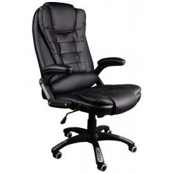 Bürosessel Chefsessel BSB Schwarz mit weißen faden