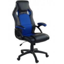Bürosessel Chefsessel RCA Schwarz und Blau