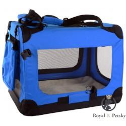 Faltbare Hundetransportbox Transportbox Katzen Hunde Auto Box Größe M Blau