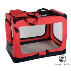 Faltbare Hundetransportbox Transportbox Katzen Hunde Auto Box Größe XL Rot