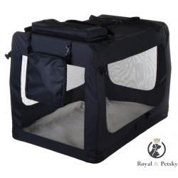 Faltbare Hundetransportbox Transportbox Katzen Hunde Auto Box Größe XXL Schwarz