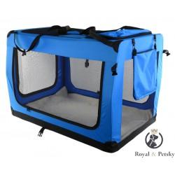 Faltbare Hundetransportbox Transportbox Katzen Hunde Auto Box Größe XXL Blau